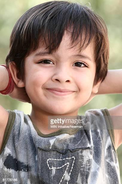 Boy smiling, portrait, close-up