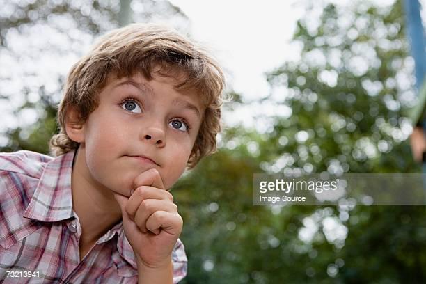 思考の少年