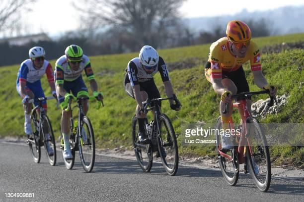 Boy van Poppel of The Netherlands and Team IntermarchŽ-Wanty-Gobert MatŽriaux, Antoine Raugel of France and Team Groupama-FDJ Continental & Victor...