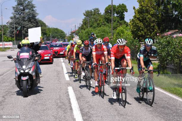 Boy Van Poppel of The Netherlands and Team Trek-Segafredo / Christoph Pfingsten of Germany and Team Bora-Hansgrohe / Mattia Cattaneo of Italy and...