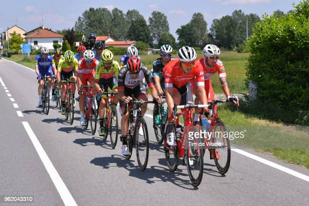 Boy Van Poppel of The Netherlands and Team Trek-Segafredo / Marco Marcato of Italy and UAE Team Emirates / Mattia Cattaneo of Italy and Team Androni...