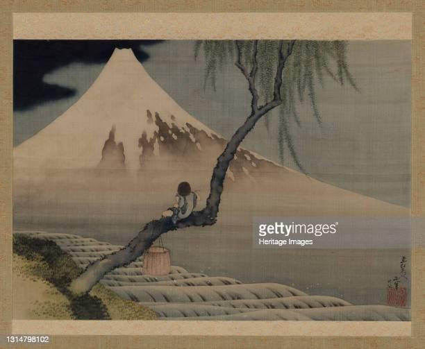 Boy Viewing Mount Fuji, 1839. Possibly by Katsushika Hokusai. Artist Hokusai.