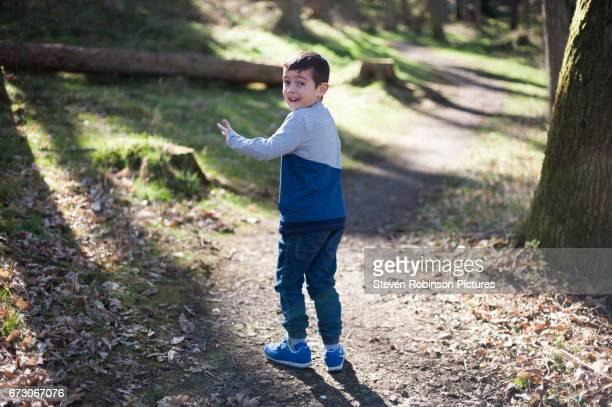 Boy walking Outdoor Trail