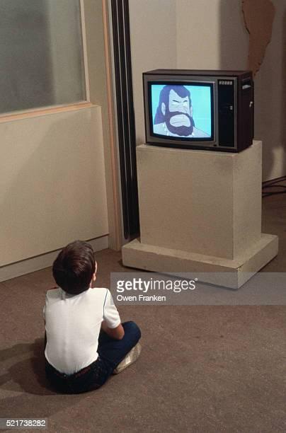 Boy Watching Cartoons