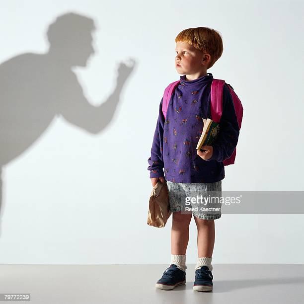 Boy Watching Shadowy Figure