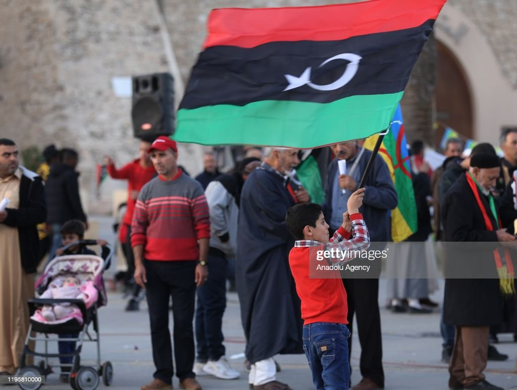Protest against Haftar in Tripoli : Nieuwsfoto's