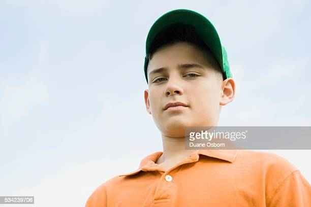 Boy Wearing Ball Cap