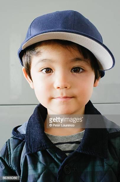 Boy wearing cap