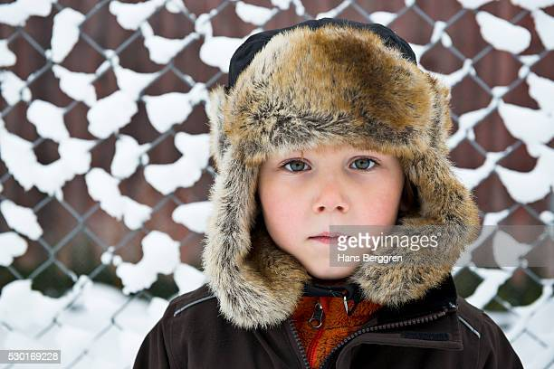 Boy wearing fun hat