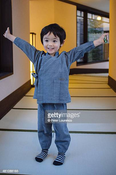 Boy wearing yukata