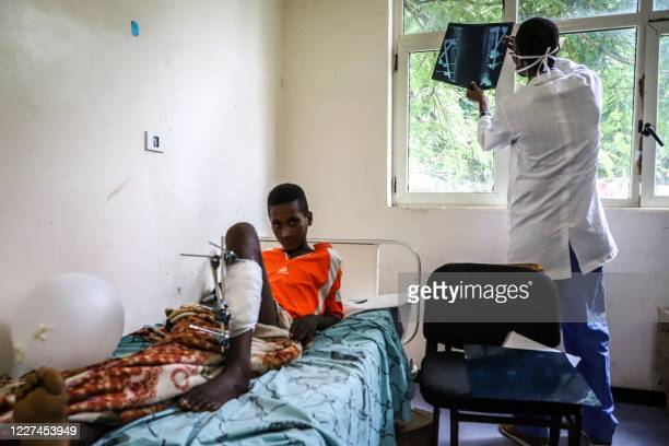 Boy who was shot allegedly by security forces during the violences that erupted in the town of Kokosa following the assassination of Oromo's pop...