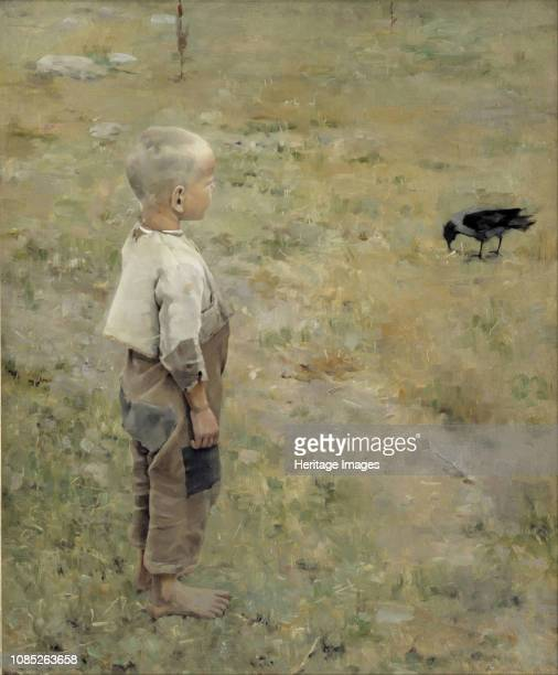 Boy with a Crow 1884 Found in the Collection of Ateneum Helsinki