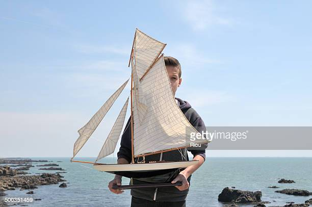 Boy with a sailboat