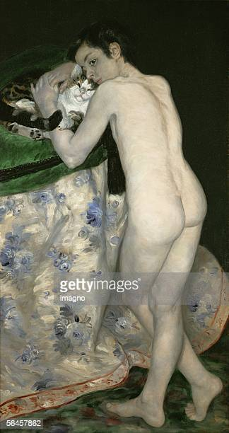 Boy with cat 1868 Canvas RF1992409 [Bub mit Katze 1868 Canvas R
