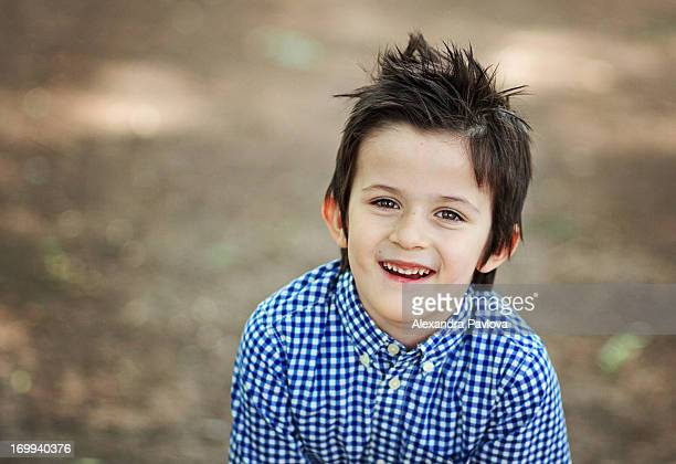 boy with cute haircut smiling happy and joyful - alexandra pavlova stock pictures, royalty-free photos & images