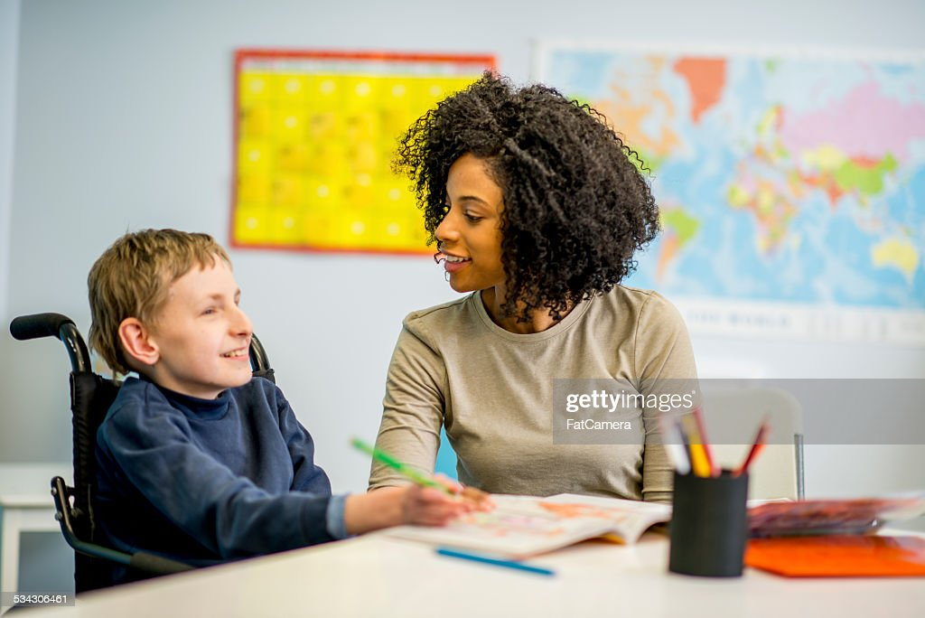 Boy with Disability : Stock Photo