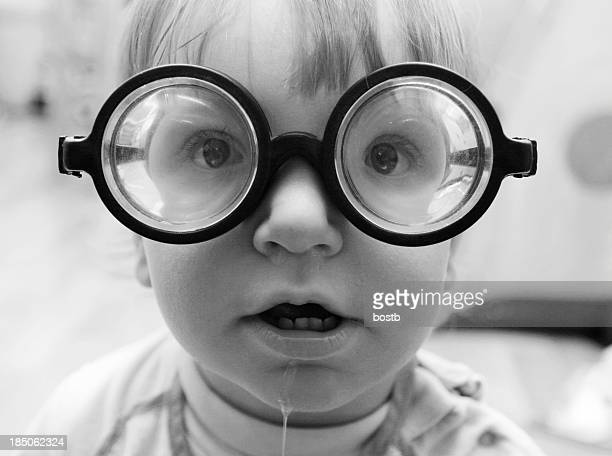 Boy with funny glasses