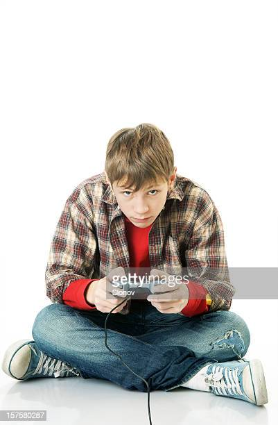Boy with game pad