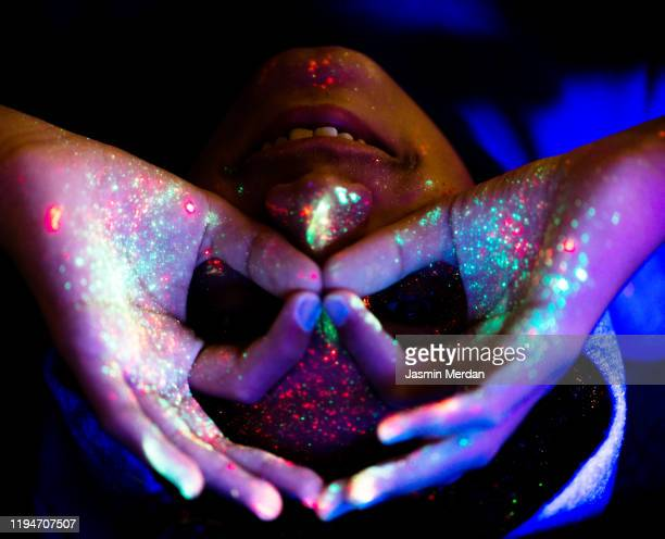 boy with glowing sking - lsd stock pictures, royalty-free photos & images