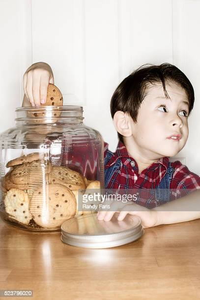 Boy with Hand Caught in the Cookie Jar