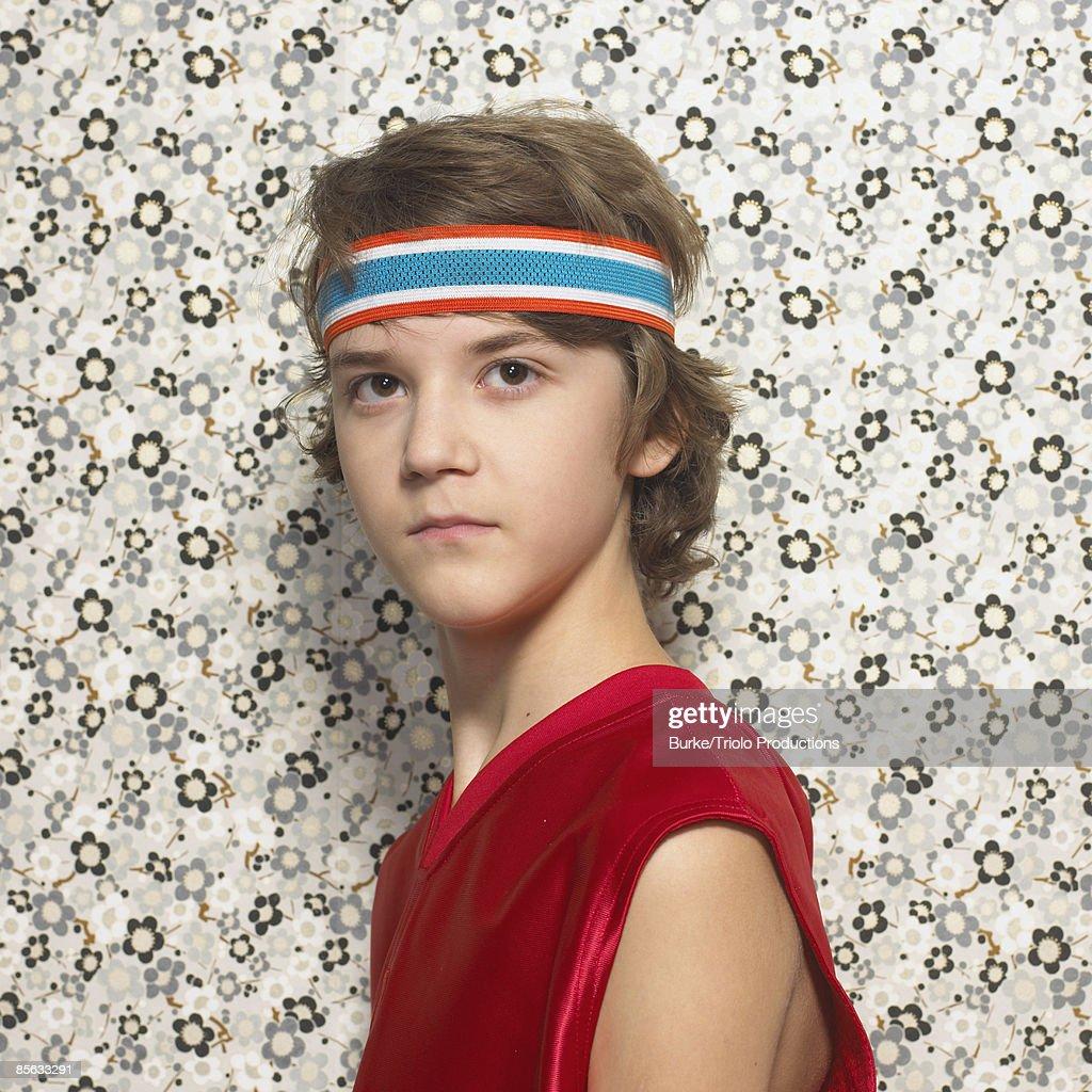 Boy with headband : Stock Photo