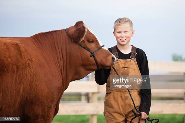 Boy with his Calf