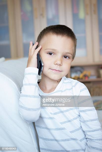 Boy with his cellphone
