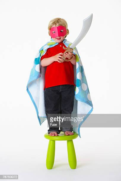 Boy with Mask and Sword