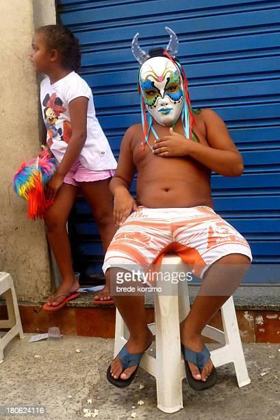 Boy with mask, Carnaval, Gamboa, Rio de Janeiro, Brazil, 2012