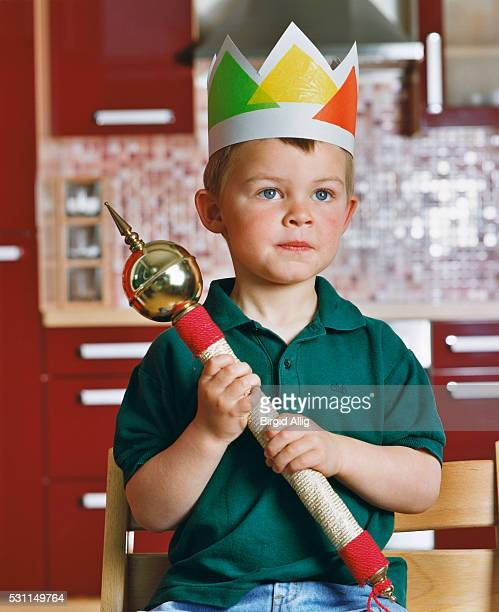 Boy with Paper Crown and Sceptre
