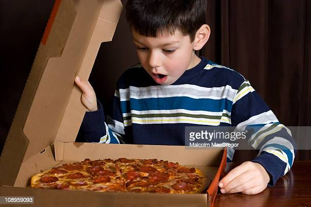 Boy with Pizza