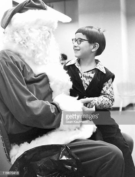 Boy with santa claus