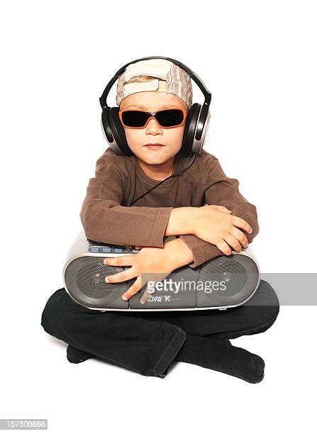 Boy with stereo