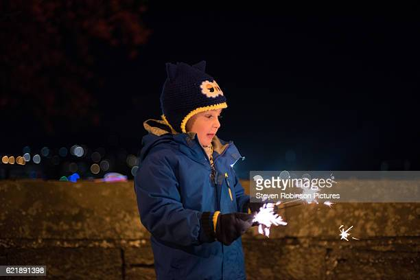 Boy with the Sparklers
