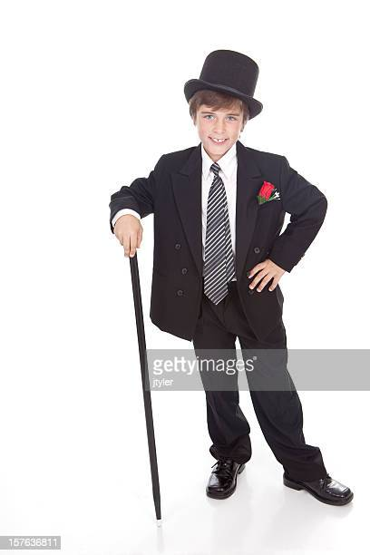 Boy With Top Hat and Cane