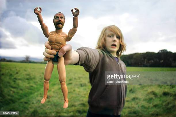 boy with toy - scott macbride stock pictures, royalty-free photos & images