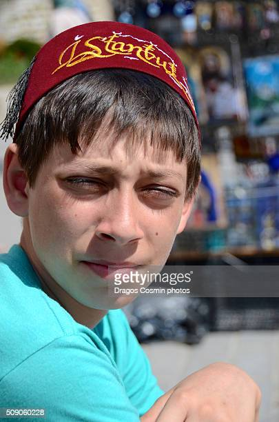 Boy with traditional turkish hat