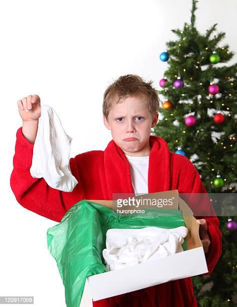 boy with underwear gift