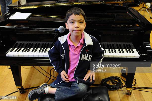 Boy wonder Ethan Bortnick the We Are the World voice is only 9 years old will be getting his own PBS special this coming June rehearses at...