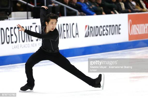 Boyang Jin of China performs during the Mens Short program on Day 1 of the ISU Grand Prix of Figure Skating at Herb Brooks Arena on November 24 2017...
