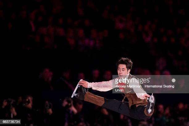 Boyang Jin of China performs in the gala exhibition during day five of the World Figure Skating Championships at Hartwall Arena on April 2 2017 in...