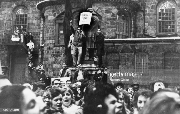 A boycott of Boston Public Schools Feb 26 1964 Sponsored by the Massachusetts Freedom Movement an estimated 10000 students will boycott their schools...