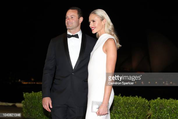 Boyd Cordner and Jemma Barge arrive at the 2018 Dally M Awards at Overseas Passenger Terminal on September 26 2018 in Sydney Australia