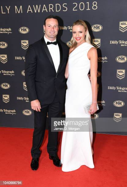 Boyd Cordner and Jemma Barge attend the 2018 Dally M Awards on September 26 2018 in Sydney Australia