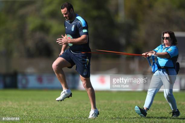 Boyd Cordner during a New South Wales Blues State of Origin Training Session on July 8 2017 in Kingscliff Australia