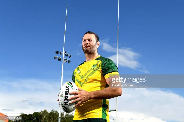 Boyd Cordner poses for a photo during an Australian Kangaroos training session at Carina Juniors on October 8 2018 in Brisbane Australia