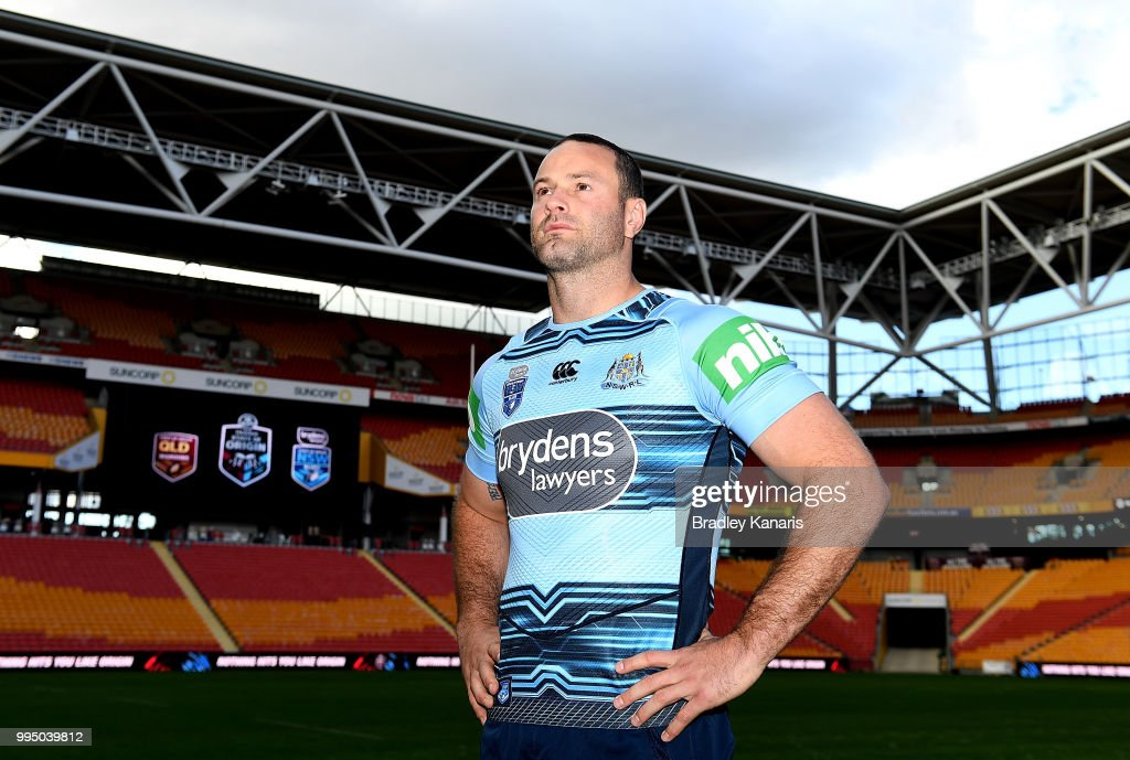 Boyd Cordner poses for a photo during the New South Wales Blues State of Origin Captain's Run at Suncorp Stadium on July 10, 2018 in Brisbane, Australia.