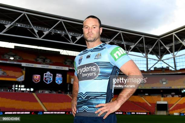 Boyd Cordner poses for a photo during the New South Wales Blues State of Origin Captain's Run at Suncorp Stadium on July 10 2018 in Brisbane Australia
