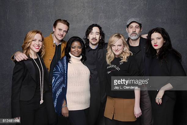 Boyd Holbrook Jason Lew Laura Rister Octavia Spencer Waleed Zuaiter and Elisabeth Moss from the film 'The Free World' pose for a portrait at the 2016...
