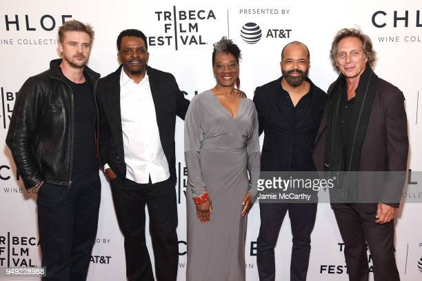 Boyd Holbrook Kevin Jackson Stephanie Berry Jeffrey Wright and William Fichtner attends the screening of OG during the Tribeca Film Festival at SVA...